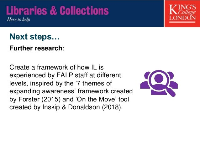 Next steps… Recommendations – culture & building relationships Create a friendly environment to foster team relations thro...