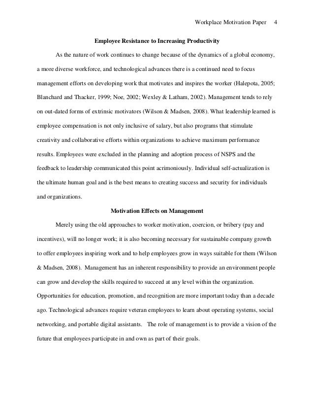 workplace motivation paper 4 workplace motivation paper