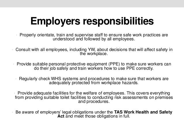 understand employment responsibilities and rights Understand certain aspects of err range of employment rights and responsibilities than other workers (for example, the requirement to give notice if you.
