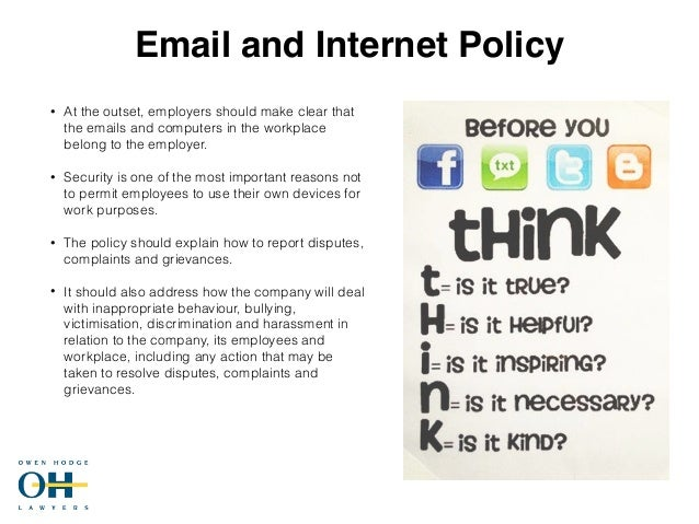 Implementing an internet usage policy