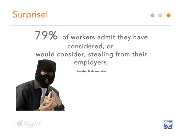 theft in the workplace Employee theft is a considerable problem for many companies, but its precise extent is poorly documented the us census bureau does not track employee theft as a.
