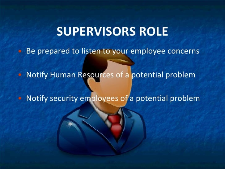 supervisor role