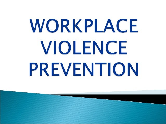 causes of workplace violence pdf