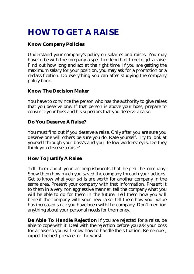 how to get a raise know company policies understand your - How To Get A Raise At Work Getting The Pay Raise You Deserve
