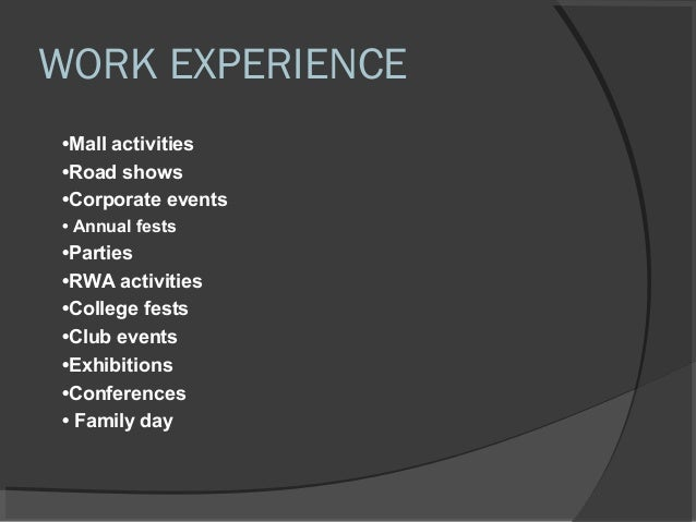 Work profile kanishk ppt format – Profile Format