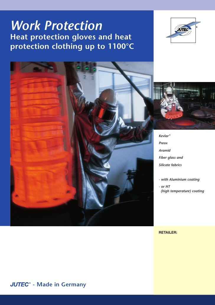 Work Protection Heat protection gloves and heat protection clothing up to 1100°C                                        Ke...