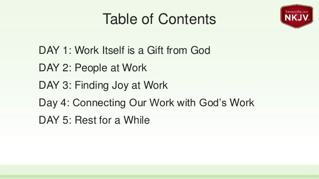 Connecting Our Work with God's Work - 5-day Reading Plan Slide 3