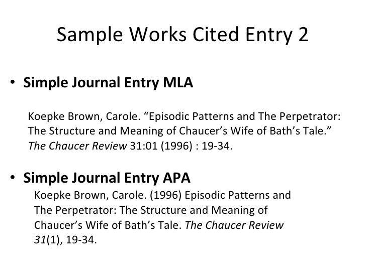 works citeed