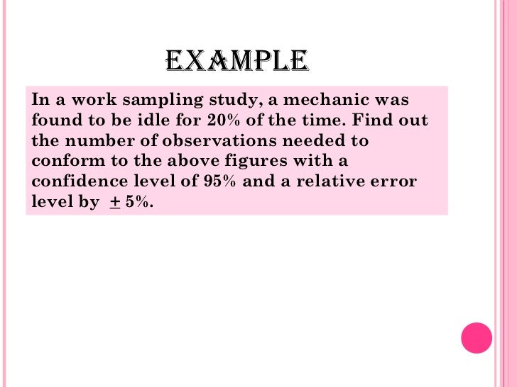Work sampling - SlideShare