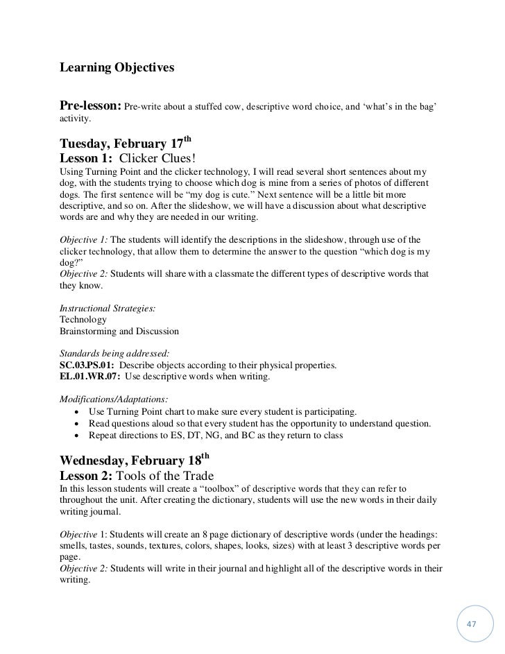 work sample first grade detective descriptives writing workshop tasha  learning plan 46 47