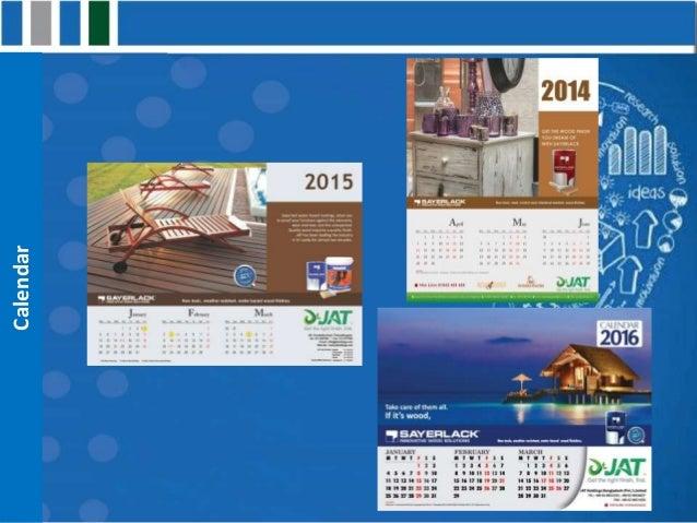 Logistics Calendar Design : Work sample of britto communication logistics service