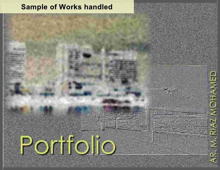 Sample of Works handled