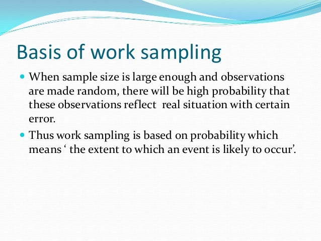 Work Sampling