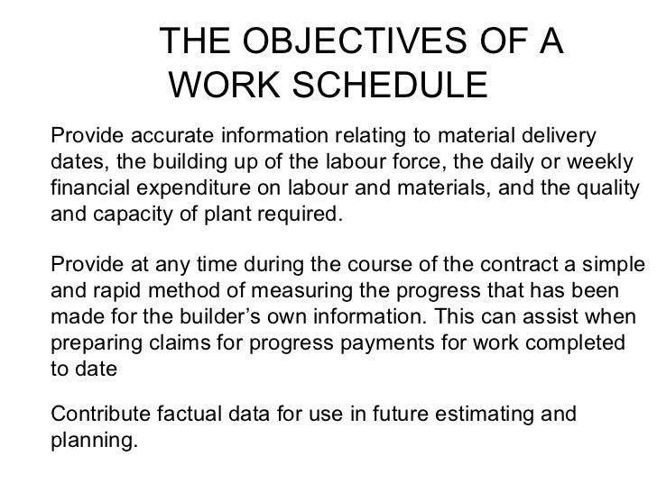 work scheduling 2