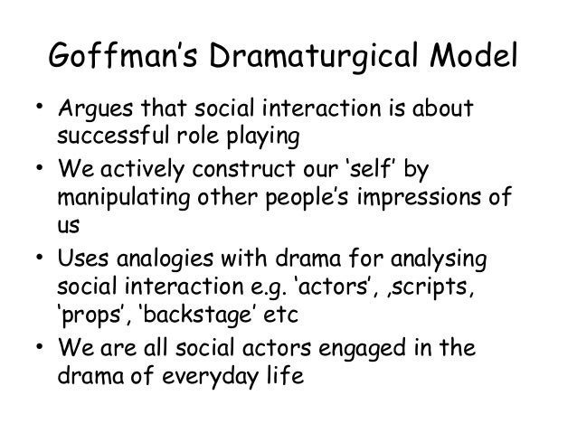"a review of goffmans the presentation of self in everyday life From the author of the presentation of self in everyday life, stigma is analyzes a person's feelings about himself and his relationship to people whom society calls ""normal."