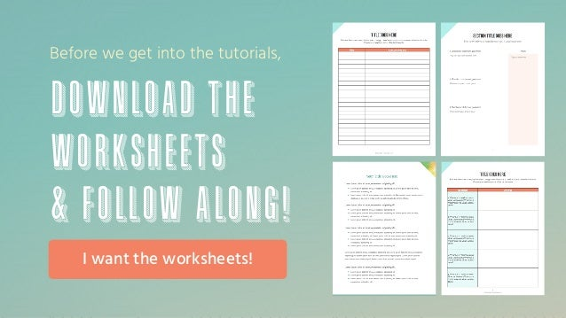 How to Create Worksheets & Freebies For Your Online Business @allison…