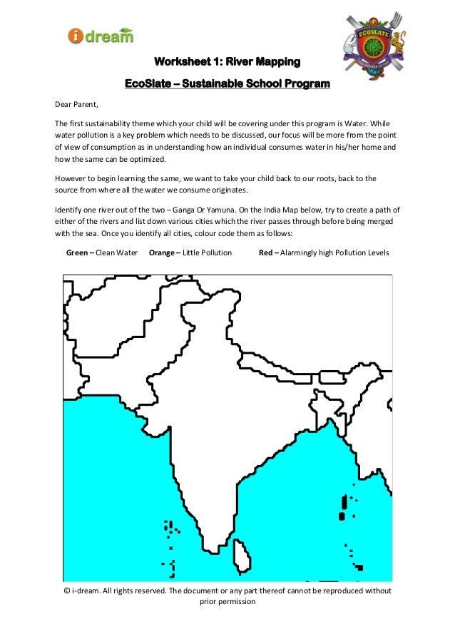 Water Worksheet 1 Ecoslate 2014