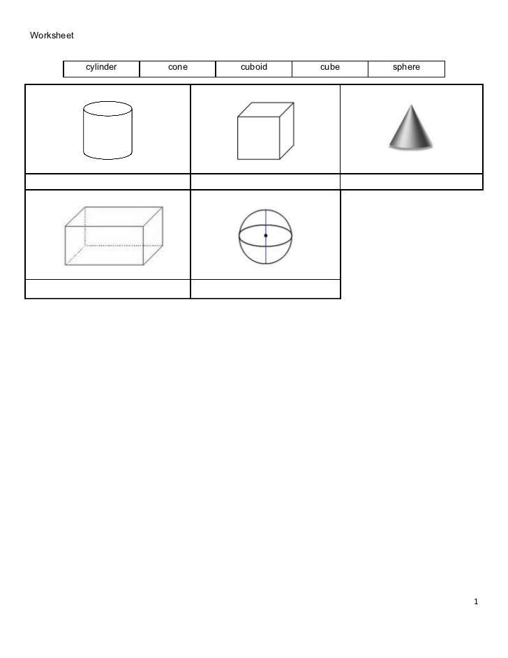 Worksheet 3 d shapes