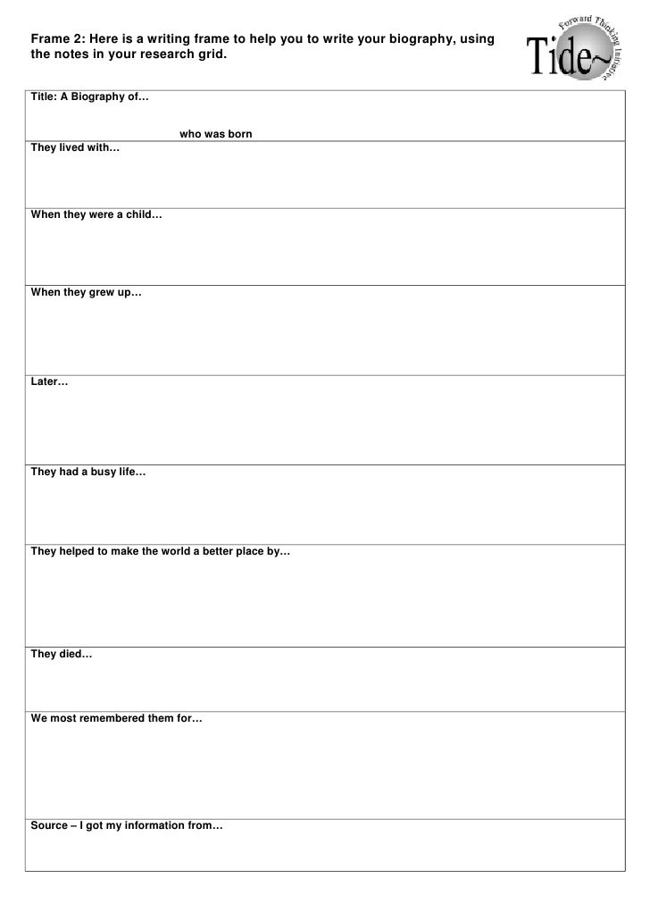 Worksheet Biography