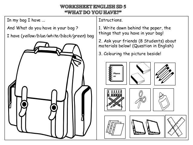 Worksheet English (Have/Has