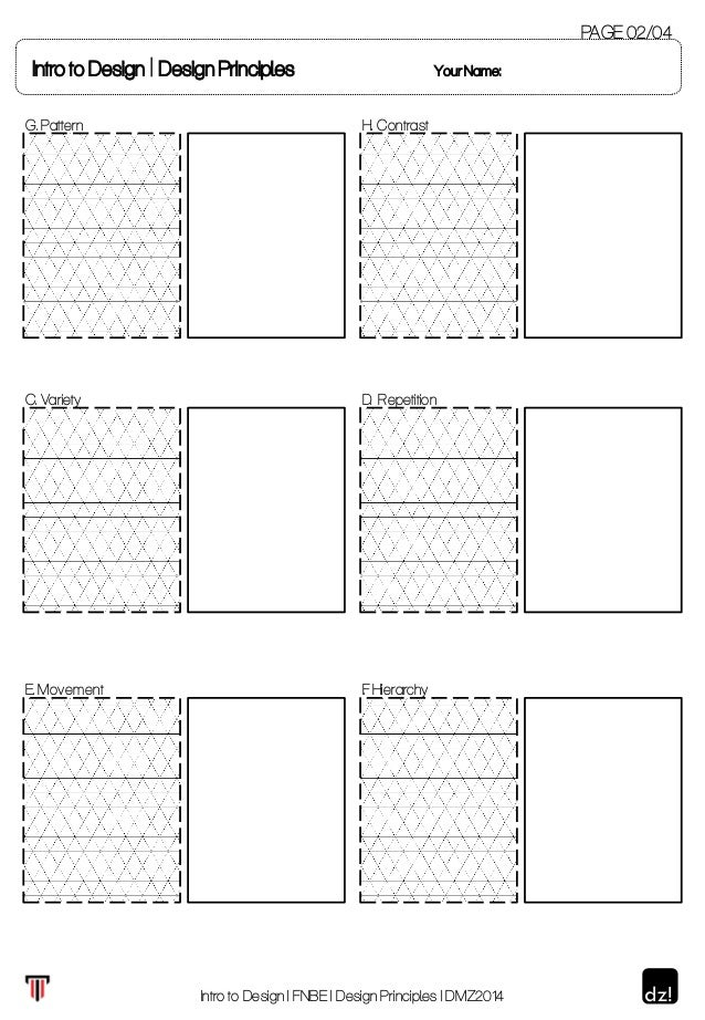 Printables Principles Of Design Worksheet worksheet for design principles 2 intro to design