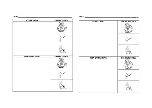 Worksheet Living Things And Non Living Things