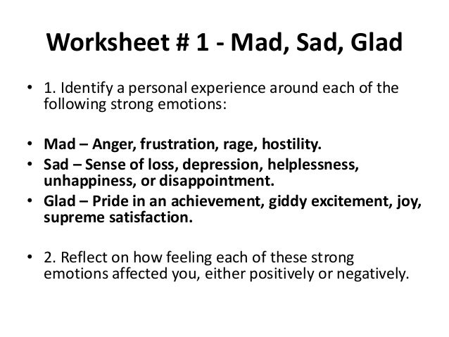 Worksheets – Emotion Regulation Worksheet