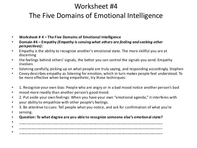 New Empathy Worksheet helps develop Emotional Intelligence ...