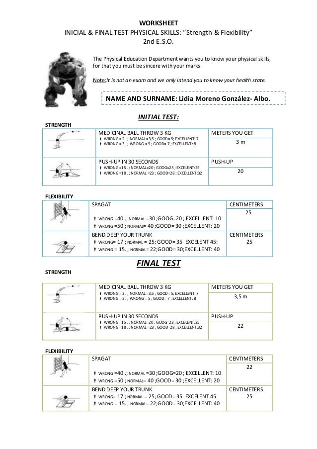 Worksheets – Physical Education Worksheets