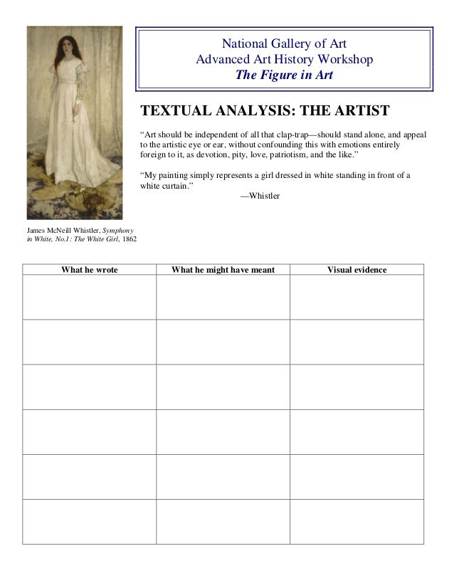 Collection of Painting Analysis Worksheet Sharebrowse – Art Analysis Worksheet