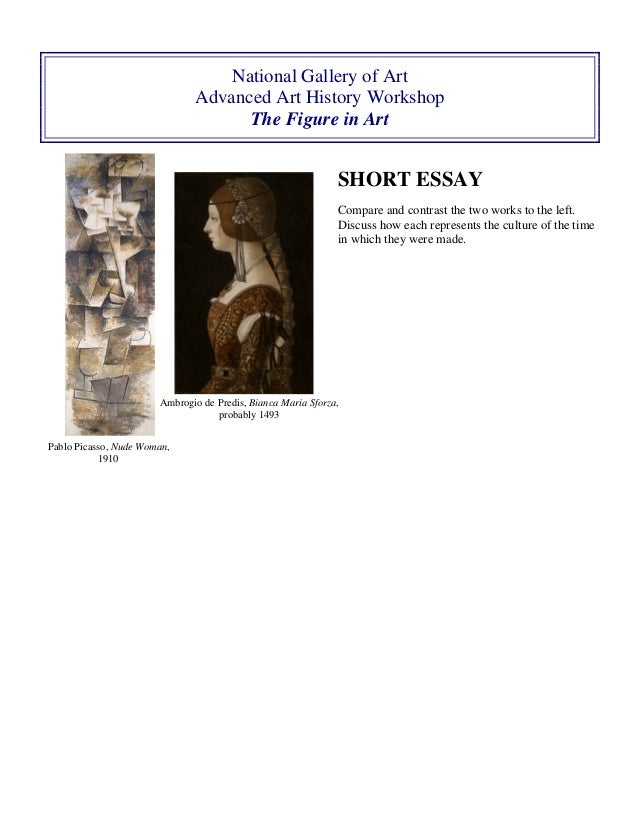 essay comparing two works art Click in the check boxes next to each picture to select two works of art from the list  of 26 below then click the begin essay button in the selection box that.
