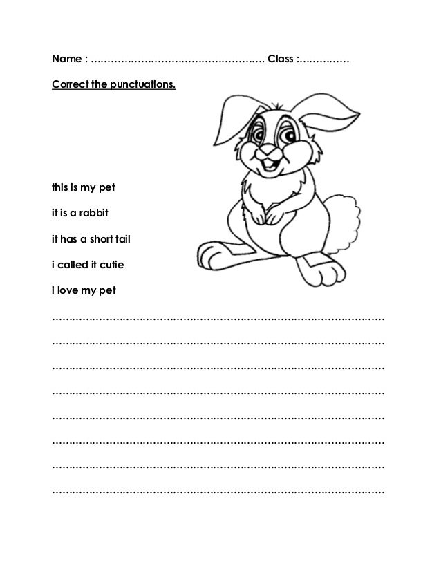 Worksheets TITLE : my pet