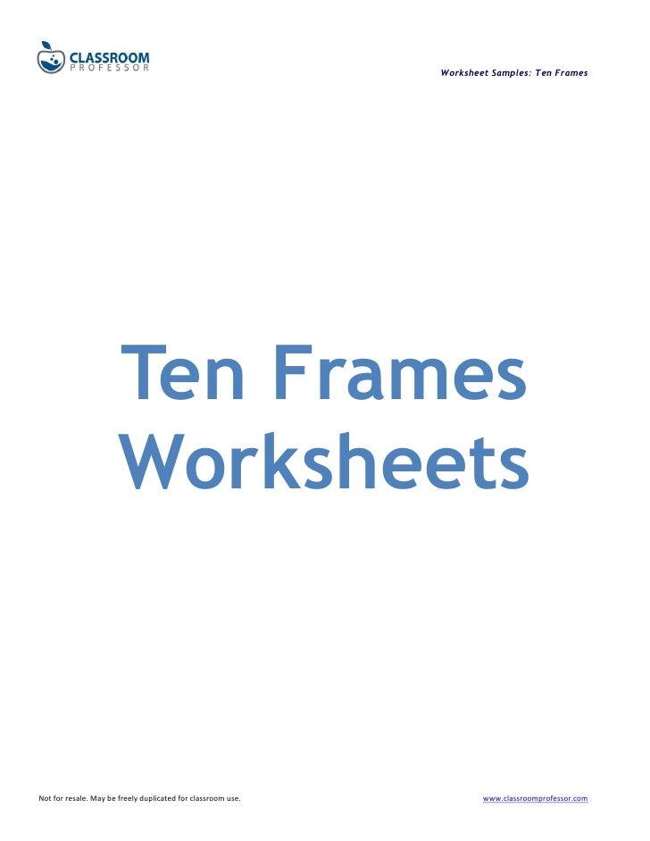 Worksheets ten frames – 10 Frame Worksheets