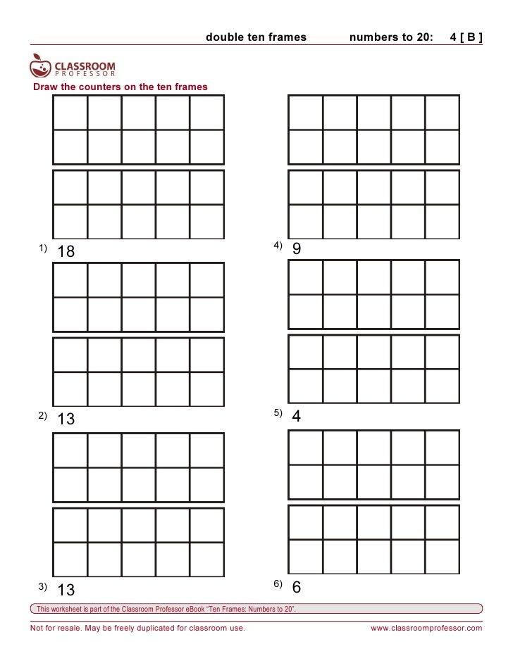 Worksheets Ten Frame Worksheet ten frame worksheet kindergarten teen number worksheets math pinterest