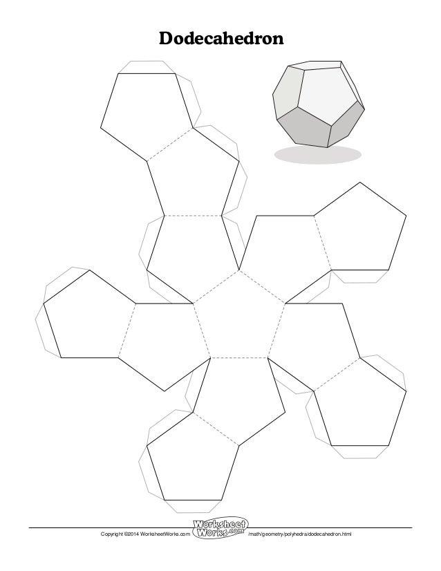 Worksheet works dodecahedron1 – Math Worksheet Works