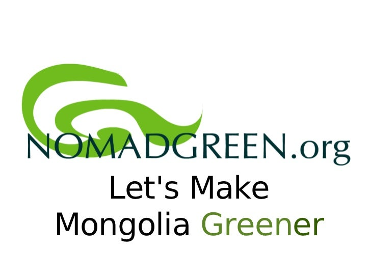 Let's Make Mongolia  Green er