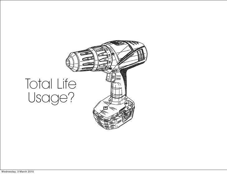 Total Life                   Usage?    Wednesday, 3 March 2010