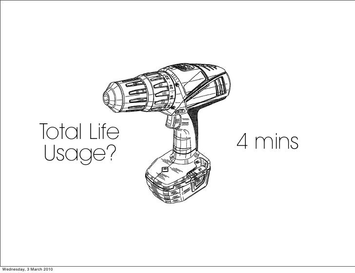 Total Life   4 mins                   Usage?    Wednesday, 3 March 2010