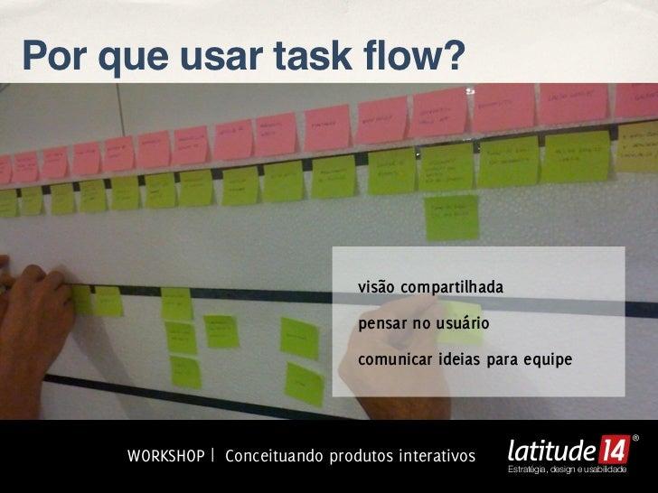 Por que usar task flow?                                  visão compartilhada                                  pensar no us...