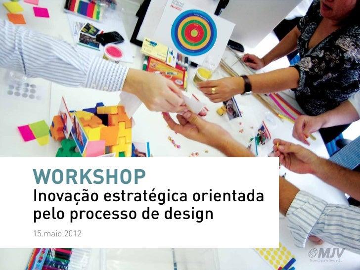 WORKSHOPInovação estratégica orientadapelo processo de design15.maio.2012