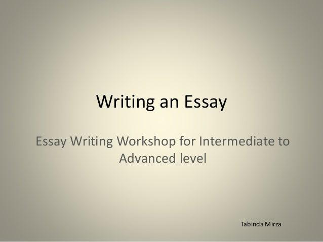 writing a esay