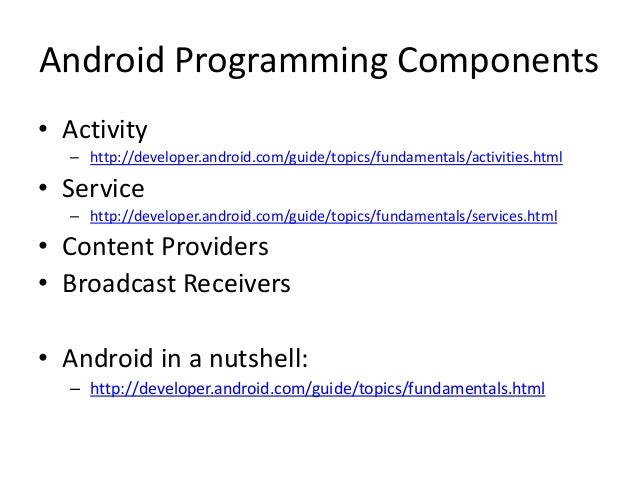 http://developer.android.com/reference/packages.html