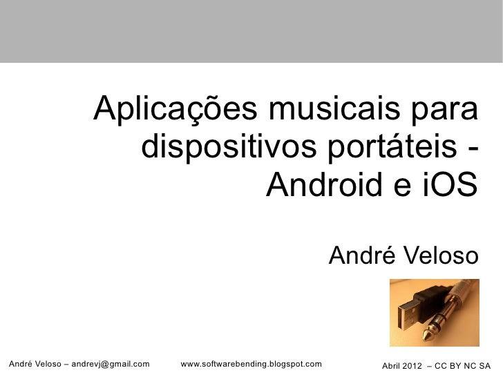 Aplicações musicais para                      dispositivos portáteis -                               Android e iOS        ...