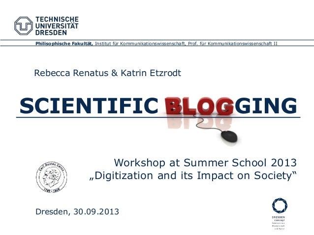 Philisophische Fakultät, Institut für Kommunikationswissenschaft, Prof. für Kommunikationswissenschaft II Dresden, 30.09.2...