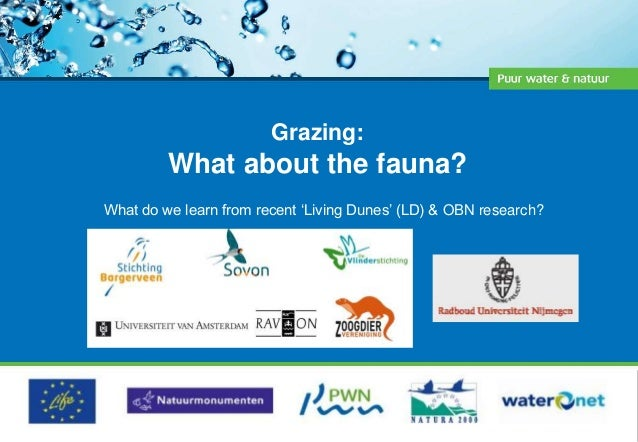 Grazing: What about the fauna? What do we learn from recent 'Living Dunes' (LD) & OBN research?