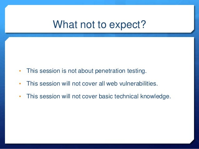 Hacking WebApps for fun and profit : how to approach a target? Slide 2