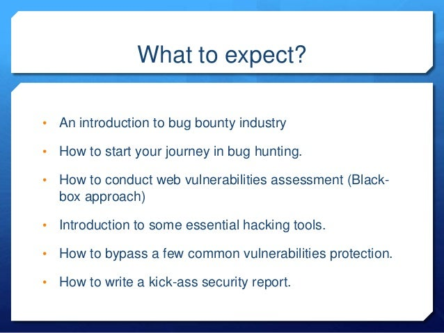 Hacking WebApps for fun and profit : how to approach a target? Slide 3