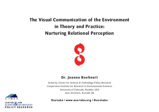 The Visual Communication of the Environment in Theory and Practice: Nurturing Relational Perception Dr. Joanna Boehnert fo...