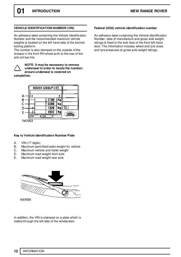 Range Rover P38 Workshop Manual Volume 2