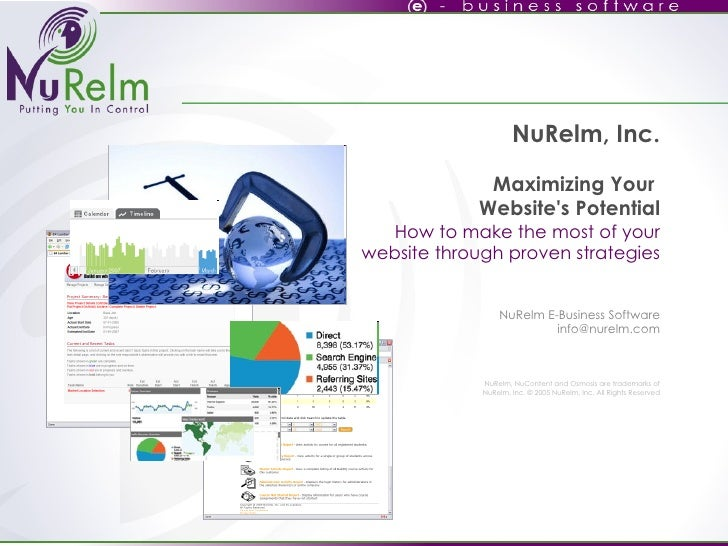NuRelm, Inc. Maximizing Your  Website's Potential How to make the most of your website through proven strategies   NuRelm ...